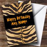 Animal Tiger Print Funky Customised Birthday Card