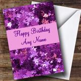 Purple Stars Customised Birthday Card