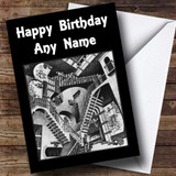 Optical Illusion Staircase Customised Birthday Card
