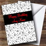 Music Notes Customised Birthday Card