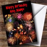 Fireworks Customised Birthday Card