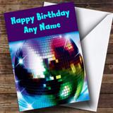 Disco Ball Customised Birthday Card