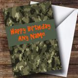 Camouflage Army Customised Birthday Card