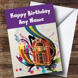 Retro Music Jukebox Customised Birthday Card