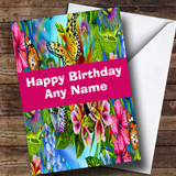 Absolutely Stunning Tropical Butterfly Customised Birthday Card