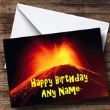 Volcano Customised Birthday Card