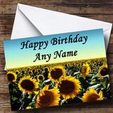 Sunflower Field Customised Birthday Card