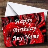 Red Rose Customised Birthday Card