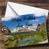 Mountains Customised Birthday Card