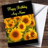 Pretty Sunflowers Customised Birthday Card