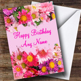 Pretty Flowers Customised Birthday Card