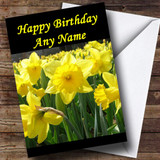 Daffodil Flowers Customised Birthday Card