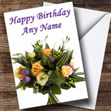 Bunch Of Flowers Customised Birthday Card
