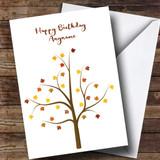 Autumn Tree Customised Birthday Card