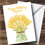Harvest Bouquet Customised Birthday Card