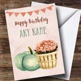 Pumpkin & Plant Customised Birthday Card