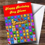 Candy Crush Saga Funny Customised Birthday Card