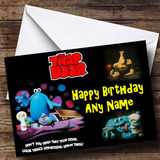 Trap Door Customised Birthday Card
