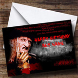 Freddy Krueger Customised Birthday Card