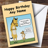 Little Horse Funny Customised Birthday Card