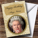 Funny Queen Nose Pick Customised Birthday Card