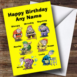 Funny Old Age Dwarfs Customised Birthday Card