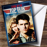 Spoof Top Gun Movie Film Poster Customised Birthday Card