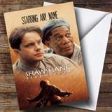Spoof Shawshank Redemption Movie Film Poster Customised Birthday Card