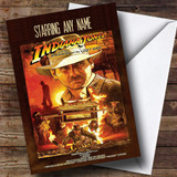 Spoof Indiana Jones Movie Film Poster Customised Birthday Card