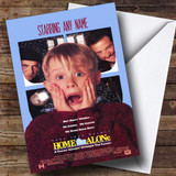 Spoof Home Alone Movie Film Poster Customised Birthday Card