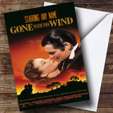 Spoof Gone With The Wind Movie Film Poster Customised Birthday Card