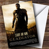 Spoof Gladiator Movie Film Poster Customised Birthday Card
