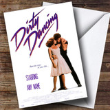 Spoof Dirty Dancing Movie Film Poster Customised Birthday Card