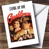 Spoof Casablanca Movie Film Poster Customised Birthday Card