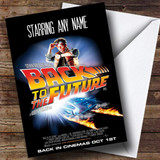 Spoof Back To The Future Movie Film Poster Customised Birthday Card