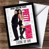 Spoof Pretty Woman Film Poster Funny Customised Birthday Card