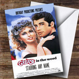 Spoof Grease Movie Poster Funny Customised Birthday Card