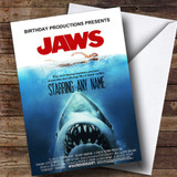 Spoof Jaws Shark Movie Poster Funny Customised Birthday Card