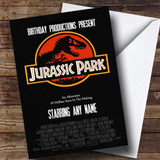 Spoof Jurassic Park Dinosaur Film Poster Funny Customised Birthday Card
