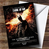 Spoof Batman Movie Poster Funny Customised Birthday Card