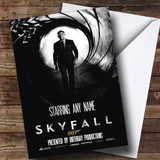 Spoof James Bond Skyfall Film Poster Funny Customised Birthday Card