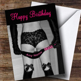 Sexy Lady Bondage Whip Funny Customised Birthday Card