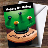 Pool Snooker Table Funny Customised Birthday Card