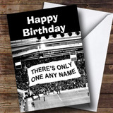 Football Fan Stadium Banner Funny Customised Birthday Card