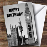 Big Ben Clock London Funny Customised Birthday Card