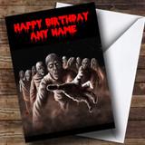 Scary Horrible Zombies Horror Customised Birthday Card