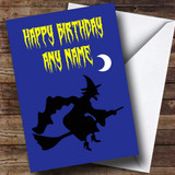 Witch Silhouette Customised Birthday Card
