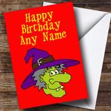 Witch Cartoon Customised Birthday Card
