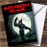 Werewolf Customised Birthday Card