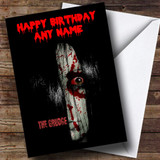 Scary The Grudge Customised Birthday Card